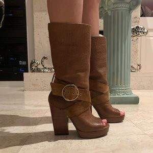 Lucky Brand open toe boots